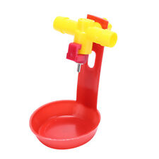 10sets chicken waterer cups bird feeding cup quail bird poultry cage automaticHT