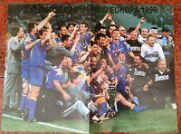POSTER JUVENTUS 1996 VITTORIA CHAMPIONS LEAGUE DEL PIERO LIPPI VIALLI 22 MAGGIO