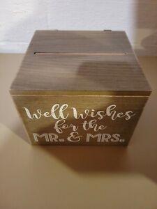 Rustic Wooden Wedding Wish Box Guest Book Alternative Drop in Box Oranment MP