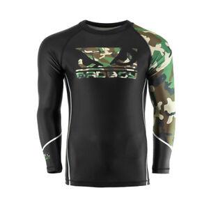 Bad Boy MMA Soldier Forest Green Camo Rash Guard Training Top Gym BJJ