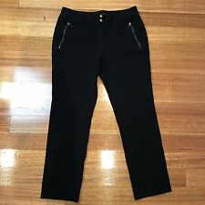 RALPH LAUREN Size 12 Black Jeans Pants Straight Leg Cotton