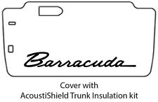 1964 1966 Plymouth Barracuda Trunk Rubber Floor Mat Cover with MA-018 Barracuda