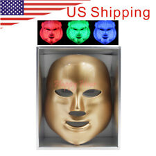 3 Colors LED Photon Skin Rejuvenation Light Reduces Wrinkle Facial Mask (gold)