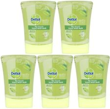 5 x 250ml Dettol No Touch Refills - (Green Tea & Ginger) Antibacterial Handwash