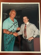 RARE Nature Boy Buddy Rogers (d 1992) Signed Wrestling Candid Color Photo WWEHOF