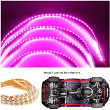 Pink Purple LED Strip Car Chassis Neon Light Kit Waterproof Bendable Foldable