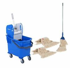 More details for floor cleaning kit for household & commercial use - 25l ergo bucket with mops