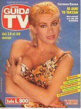 rivista NUOVA GUIDA TV ANNO 1989 NUMERO 11 CARMEN RUSSO
