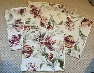 Laura Ashley Gosford Cranberry Vintage Cushion Covers X 4 - USED