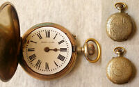 ANTIQUE PATENT LEVER SYSTEM ROSKOPF MEDAILLE D'OR HUNTERS POCKET WATCH REPAIR