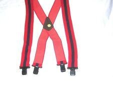 """MENS BRACES RED NAVY RED STRIPES MOTORBIKE ROYAL ENGINEERS 2"""" BRACE YOURSELF"""