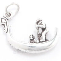 GONDOLA charm Venice Italy Boat Travel Pendant Sterling Silver 925 .925 3D