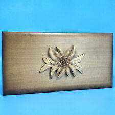 """7"""" Antique Swiss Wood Carved Jewelry Music Box Cloches Corneville Merry Waltz"""