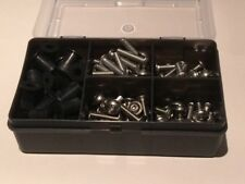 Stainless Flanged Allen Socket Button Screws and Rubber Well Nuts Box 130 pcs M5