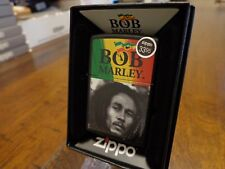 BOB MARLEY BLACK MATTE ZIPPO LIGHTER MINT IN BOX