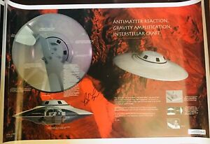 Bob Lazar Signed AREA 51 UFO Autographed Poster Certified