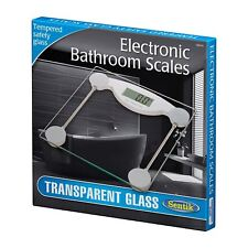NEW TRANSPARENT 150KG DIGITAL ELECTRONIC GLASS LCD BATHROOM WEIGHING SCALE