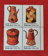 Scott # 1775-1778 - US Block of 4 - PA Toleware Folk Art 1778a - MNH - 1979