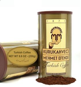 Mehmet Efendi Turkish Coffee Roast Ground Coffee Turk Kahvesi 250g + UK Seller +