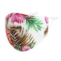 Stoffmaske Mund-Nasen-Maske Schutzmaske Frangipani Hawai 100% Baumwolle