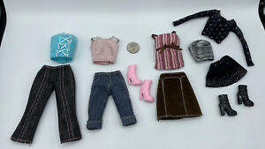 BARBIE DOLL LOT FASHION FEVER + More CLOTHING SHIRTS TOPS BLOUSES JEANS CORSET