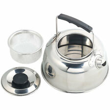 Semptec Camping-Kessel aus Edelstahl mit Tee-Sieb und isoliertem Griff, 0,7 l