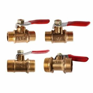 """Lever Ball Valve Male to Male Various Sizes 1/8"""" 1/4"""" 3/8"""" 1/2"""" BSP Full Flow"""