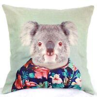 Home Decor Office Cotton Linen Koala Hawaii Man Cushion Cover Pillow Sofa 45cm