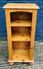 Small Pine Shelving Unit With 2 Adjustable Shelves Any Room Light Weight