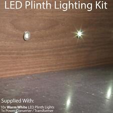 ROUND LED Plinth Light Kit–10x WARM WHITE Spotlight–Kitchen/Bathroom Floor Panel