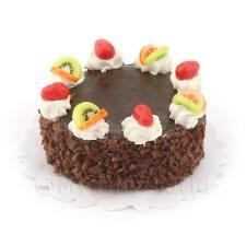 Miniatura Para Casa de muñecas tarta de chocolate y CARAMELO