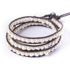 Pearl Leather Friendship Costume Bracelets