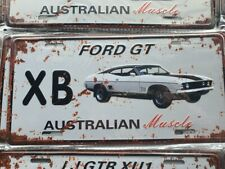 XB FORD GT Number Plate Style 3D Tin Metal Sign NEW Man Cave Garage Bar
