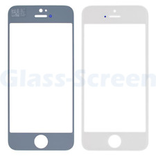 iPhone 4S 5 5C 5s SE Front Screen Glass Lens Black White