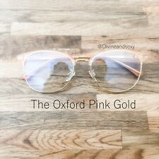 Blue Light Blocking Glasses NEW The Oxford Pink Gold