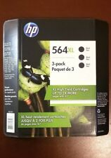 HP 564XL Black 3 PACK High Yield Ink Cartridges 2019 CR305BN 564 xl Retail 3pk