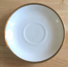 Weimer Porcelain Saucer White with Gold Rim Germany 26