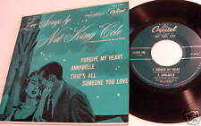 NAT KING COLE LOVE SONGS BY CAPITOL EP W/PIC JCKT