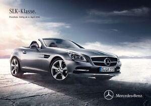 Orig. Mercedes PL (BR172) SLK *Neu* vom 04.04.2012