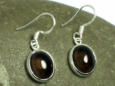 SMOKY   QUARTZ    Sterling  Silver  925  Gemstone  EARRINGS  -  Gift  Boxed!