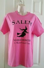 Salem Massachusetts Witch - A Wicked Good Time - Pink Sz Small T-Shirt New NWOT