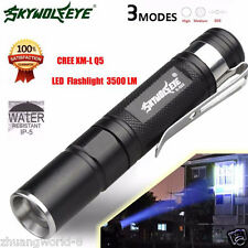Con zoom 3500LM CREE Q5 3 Mode linterna flash LED Luz Superbrillante luz Nuevo