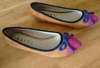 Ladies Multi Colour Flat Shoes by Ravel -  Size 4 UK (37EU)