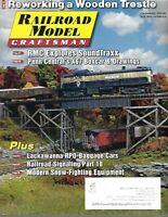 Railroad Model Craftsman Magazine October 2016 Reworking a Wooden Trestle