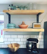 SOLID OAK BESPOKE SHELVES - CONTEMPORARY, INDUSTRIAL, HAND CRAFTED