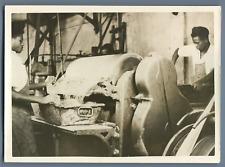 Madagascar, Fabrication du chocolat  Vintage print.  Tirage argentique  11x1