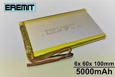 Lithium Polymer LiPo Batterie Akku 5000mAh 3.7 V 1S Powerbank PCB Tablet 9