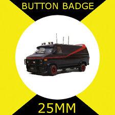 THE A-TEAM VAN - LOGO - CULT  - Button Badge