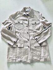 St. John Sport Linen Light Grey Long Blazer S
