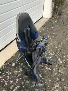 DEUTER KID COMFORT 3 Babytrage Kraxe Kindertrage Rucksack Grau Blau Schwarz